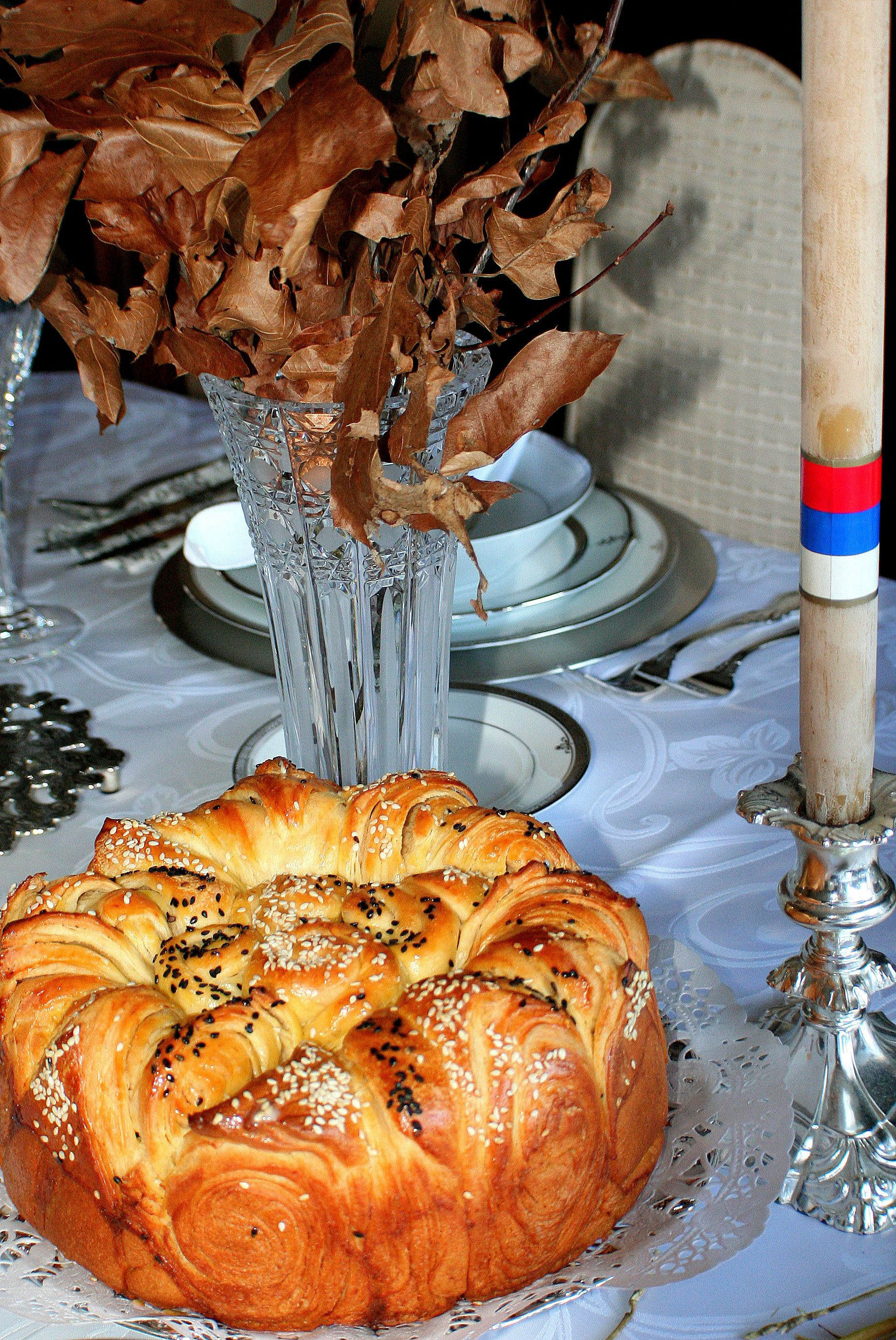 Serbian Christmas Bread  A česnica is the ceremonial round loaf of bread that is