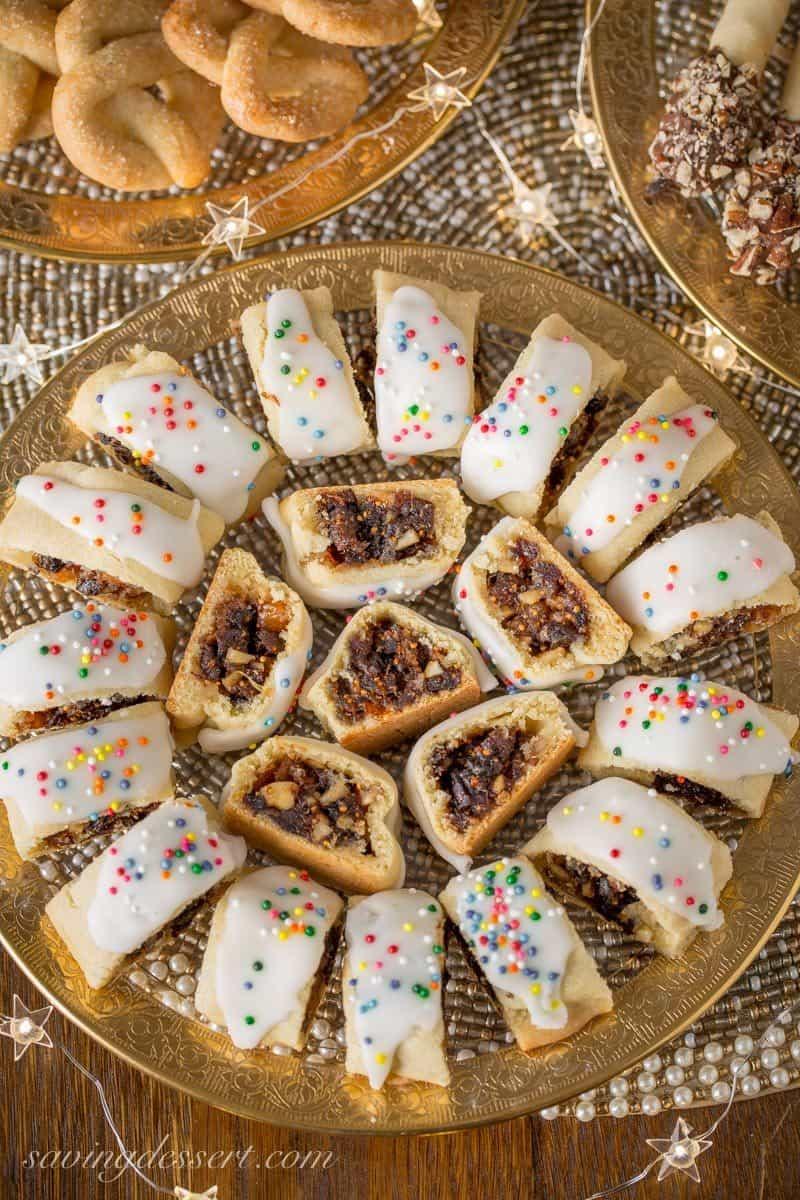 Sicilian Christmas Cookies  Italian Fig Cookies Cucidati Saving Room for Dessert
