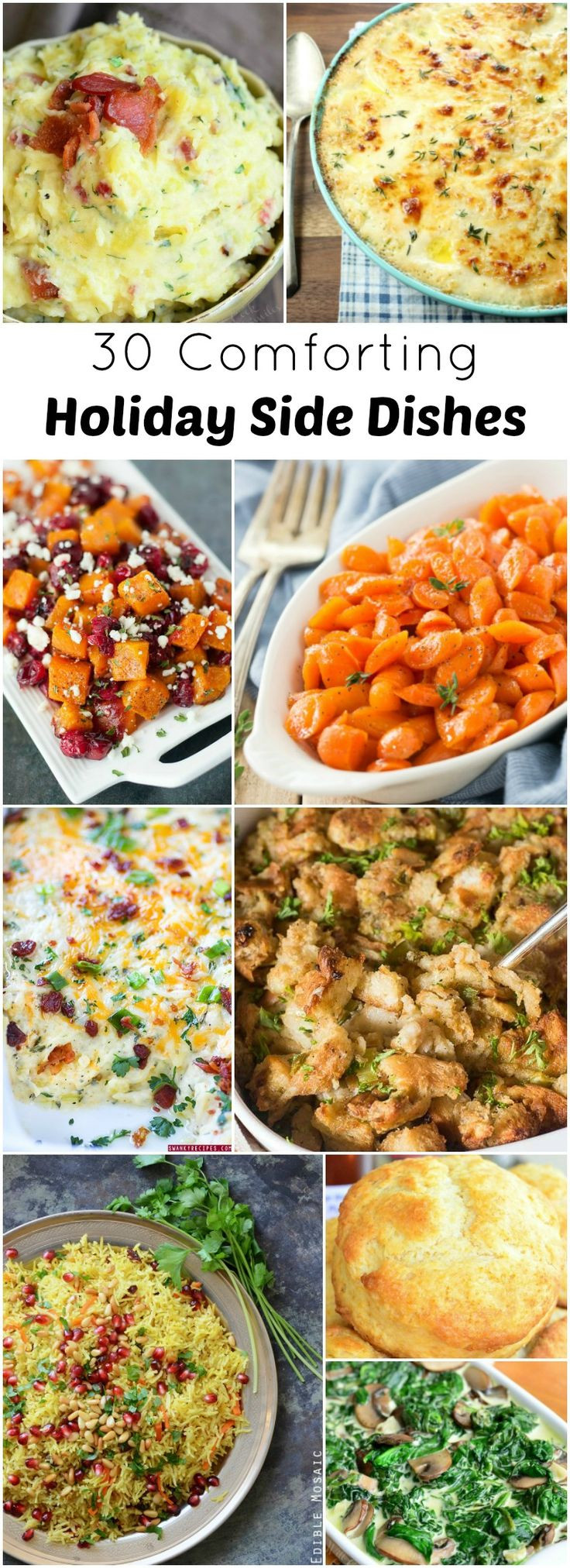 Sides For Christmas Dinner  17 Best ideas about Holiday Side Dishes on Pinterest