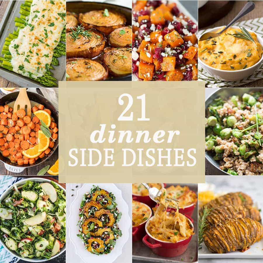 Sides For Christmas Dinner  21 Dinner Side Dishes The Cookie Rookie