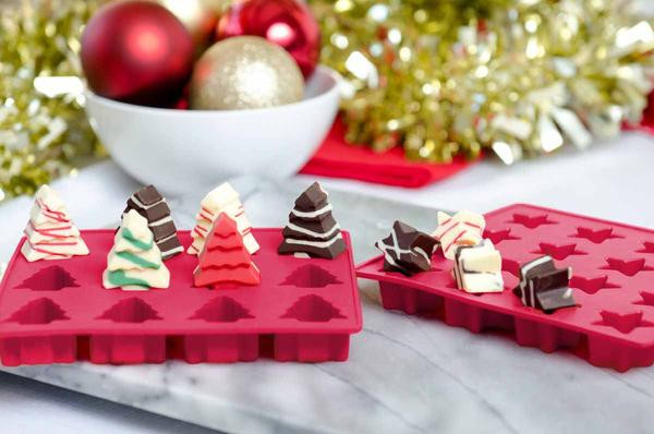 Silicone Christmas Candy Molds  Silicone Christmas Holiday Candy Molds by StarPack