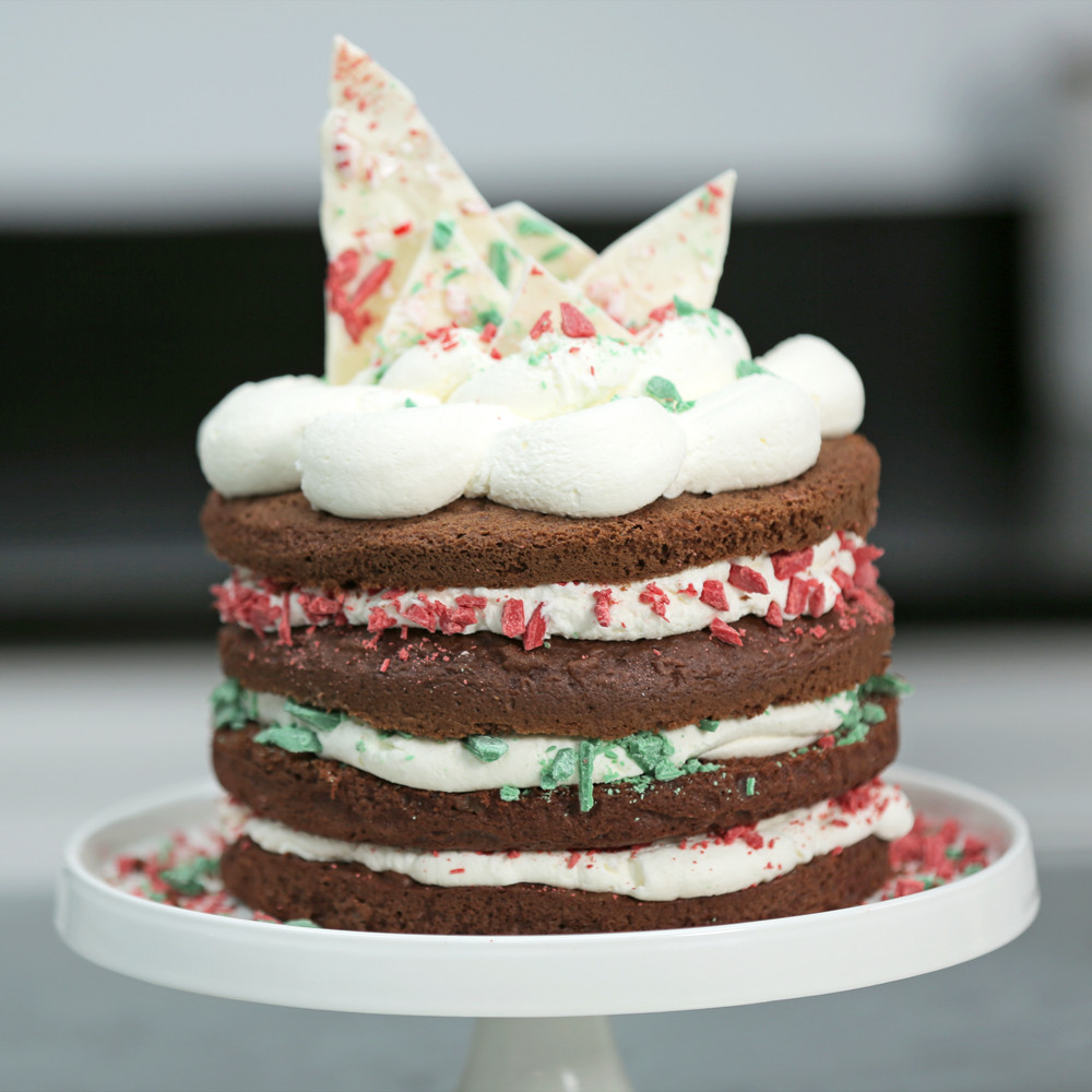 Simple Christmas Cakes  Easy Chocolate Christmas Cake from a Box Recipe