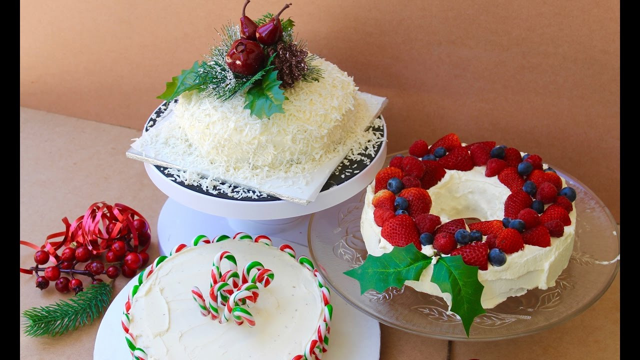 Simple Christmas Cakes  Easy Christmas recipe How to decorate a Christmas cake 3