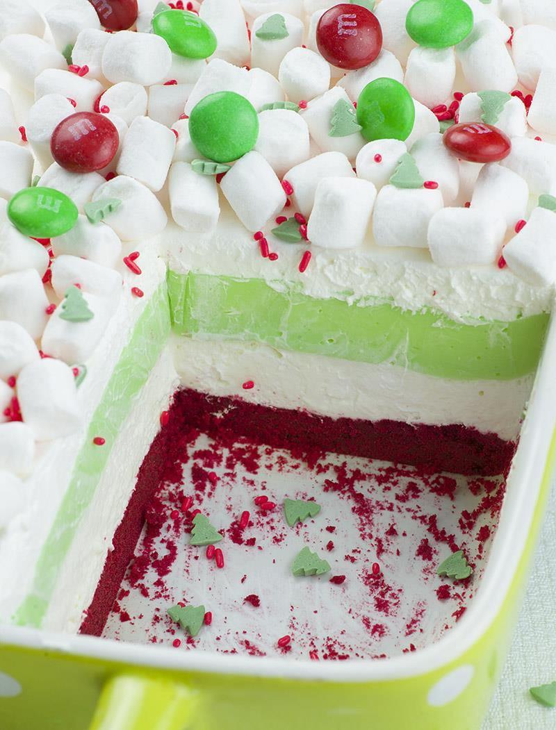 Simple Christmas Dessert  Christmas Lasagna OMG Chocolate Desserts