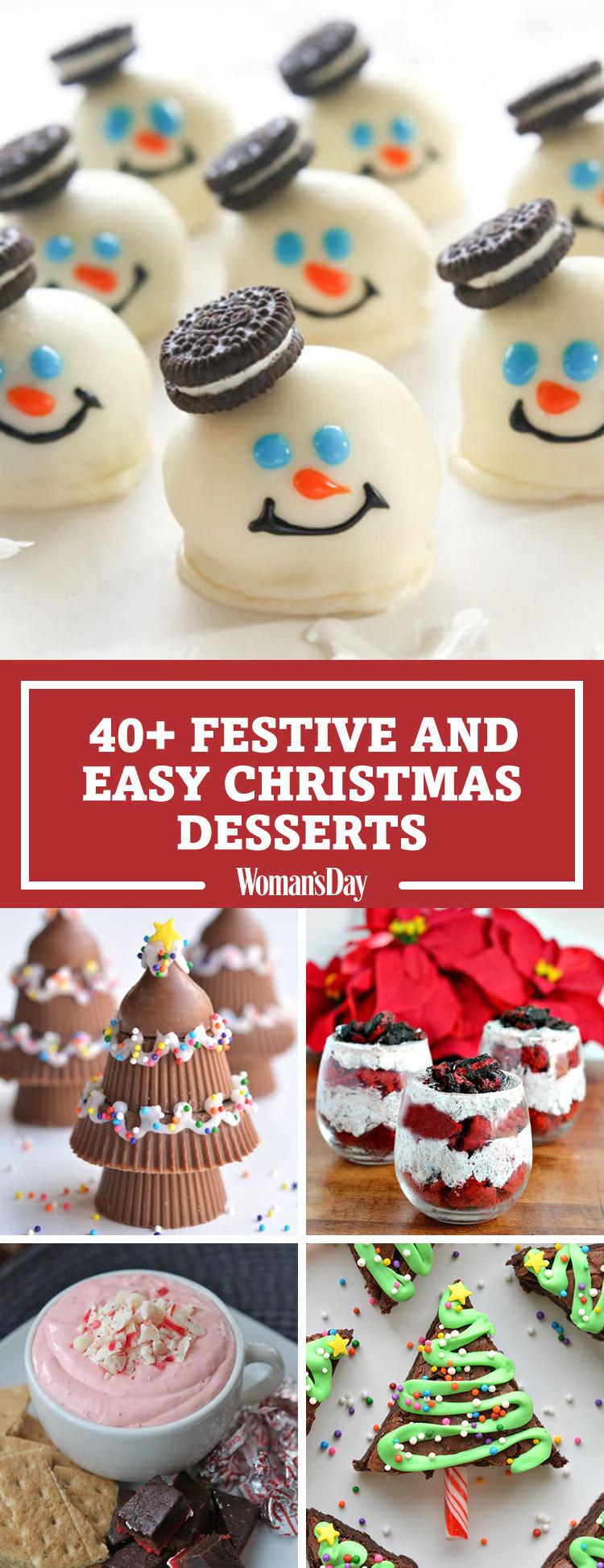 Simple Christmas Dessert  57 Easy Christmas Dessert Recipes Best Ideas for Fun