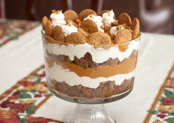 Simple Christmas Desserts Recipe  Holiday Pumpkin Gingerbread Trifle – A Simple Holiday