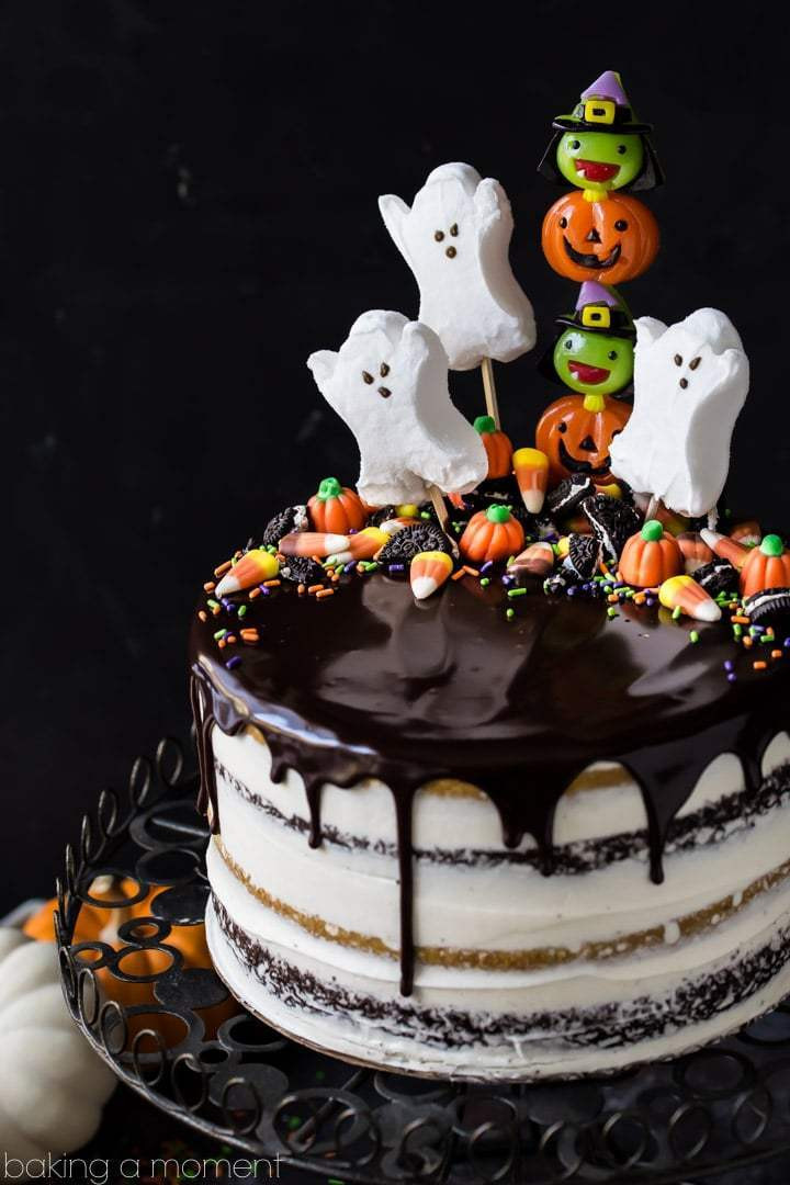 Simple Halloween Cakes  Pumpkin Chocolate Halloween Cake Baking A Moment