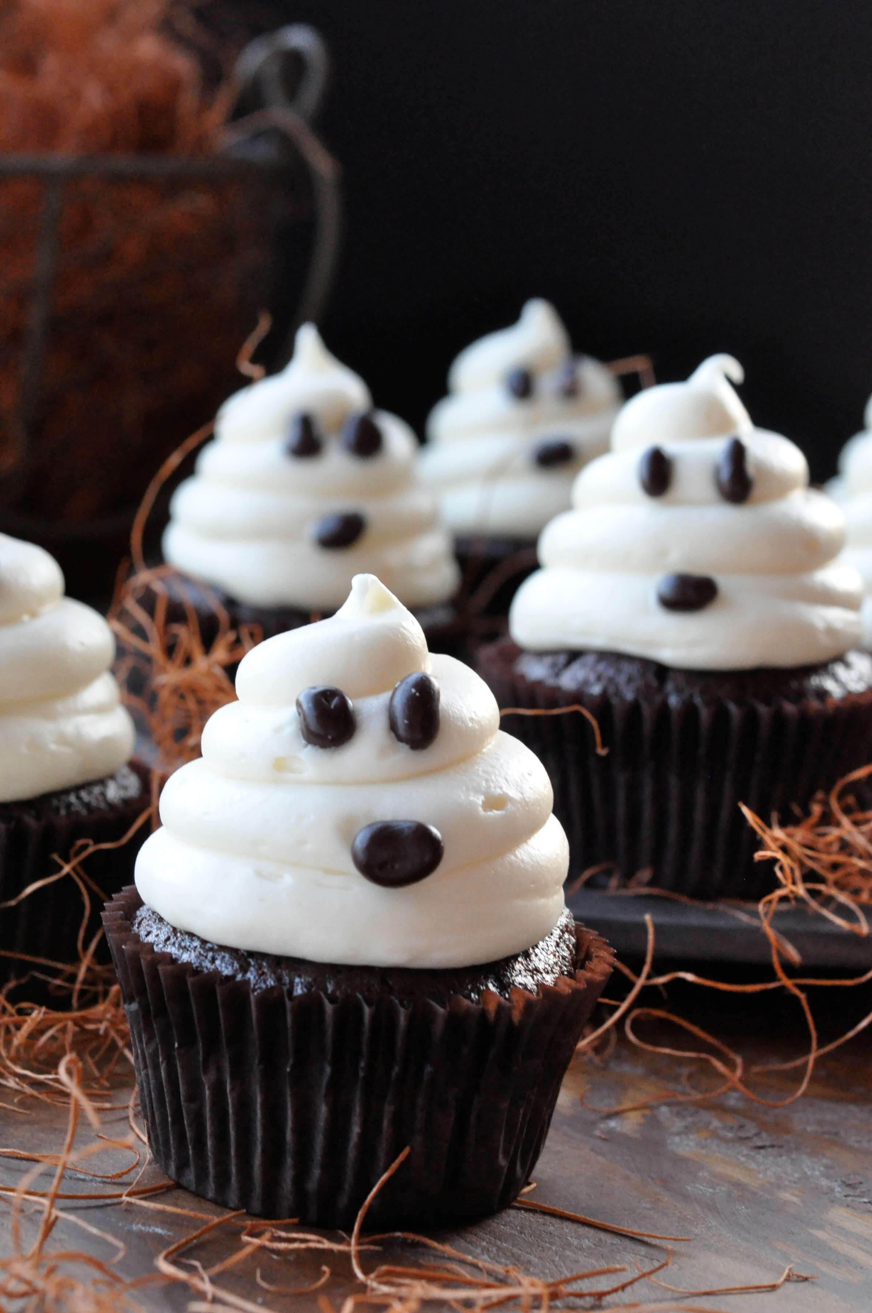 Simple Halloween Cupcakes  Halloween Ghosts on Carrot Cake Recipe—Fast and Easy