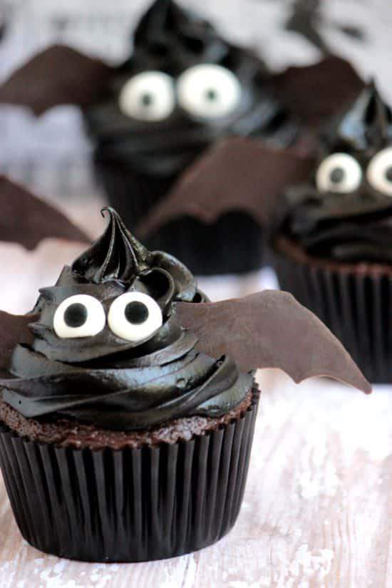 Simple Halloween Cupcakes  Easy Bat Cupcakes A Cedar Spoon