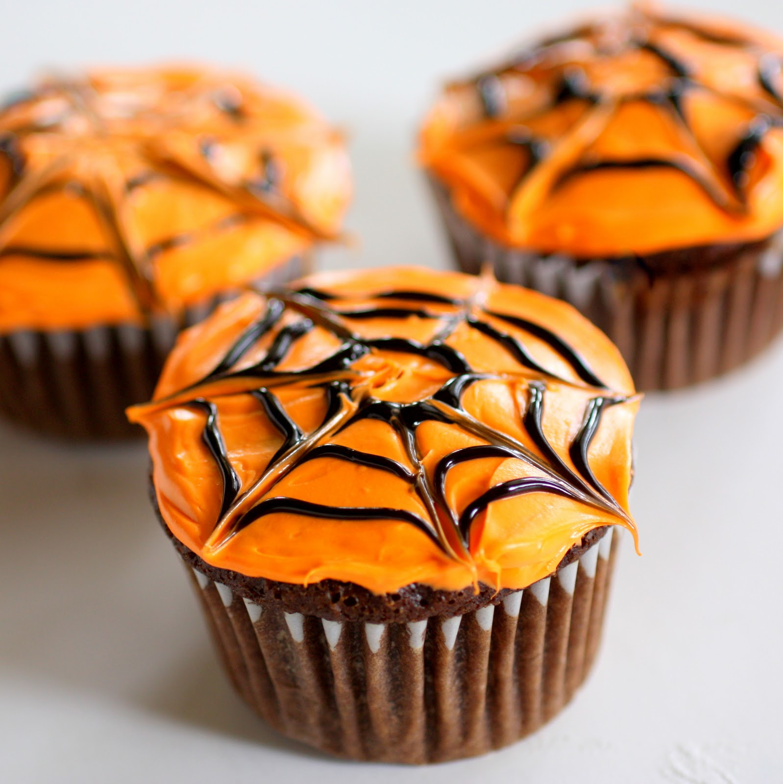 Simple Halloween Cupcakes  Spiderweb Cupcakes The Girl Who Ate Everything