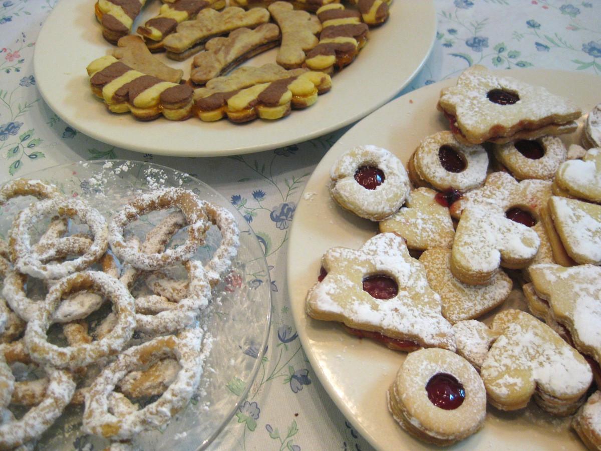 Slovak Christmas Cookies  Christmas Cookies Part 2 Striped bs Dvojfarebné
