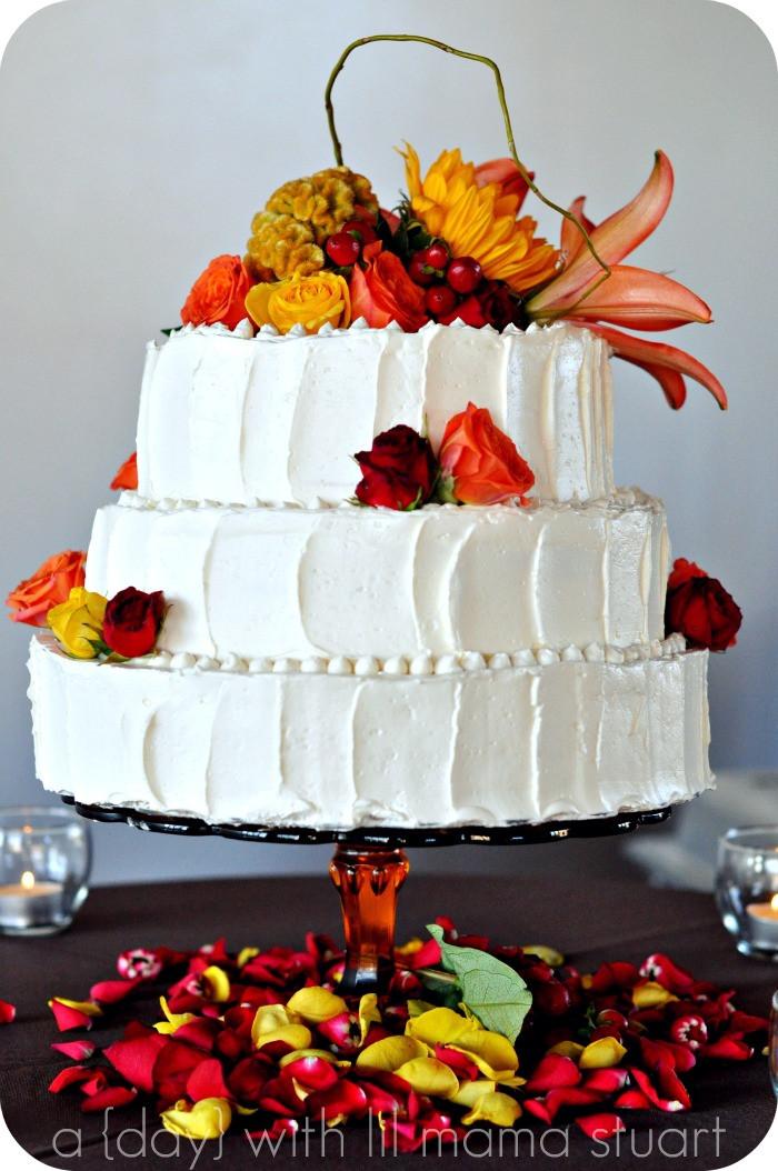 Small Fall Wedding Cakes  a day with lil mama stuart Fall Barn Wedding
