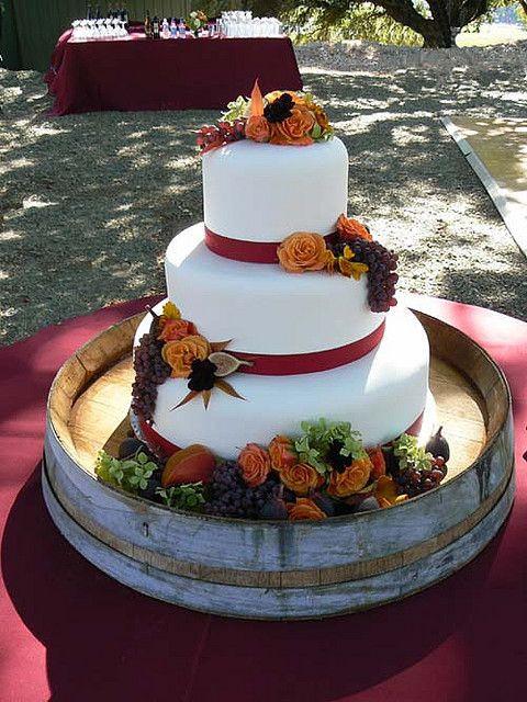 Small Fall Wedding Cakes  Fall Wedding Cake October 6 Cake