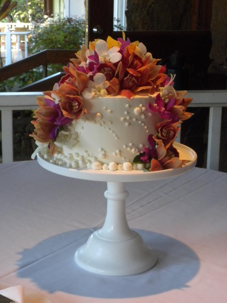 Small Fall Wedding Cakes  Small Tropical Wedding Cake