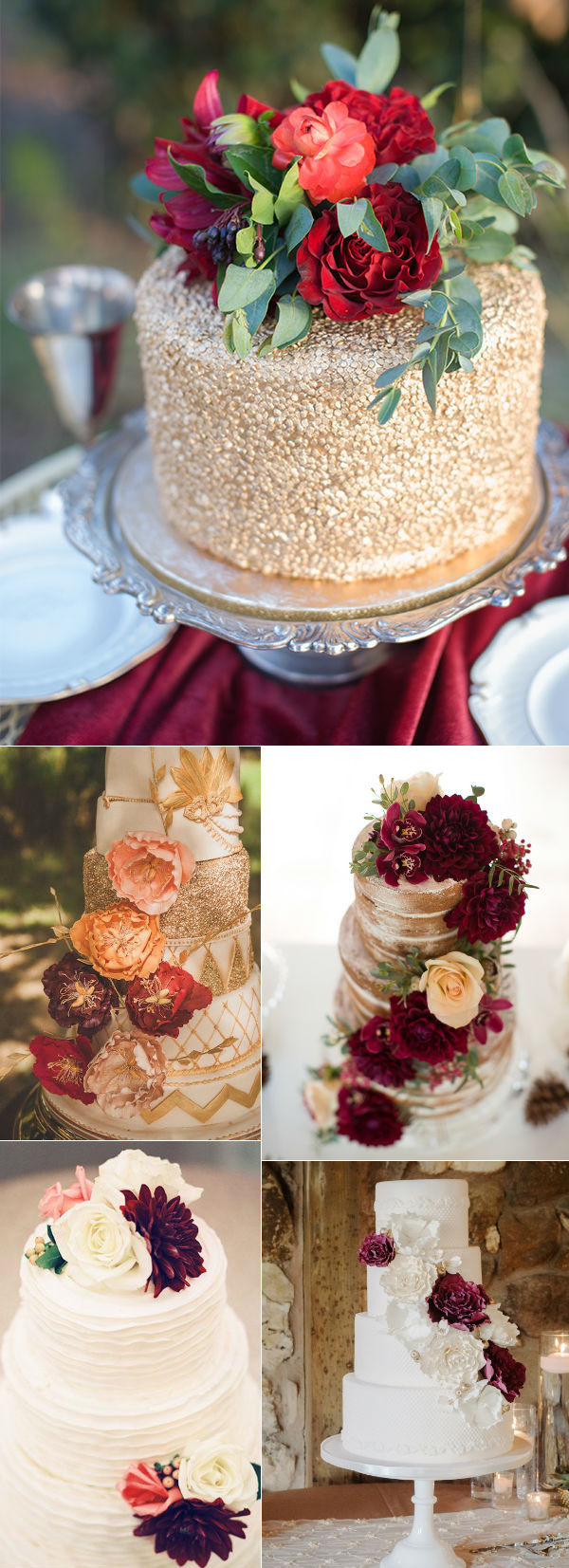Small Fall Wedding Cakes  32 Amazing Wedding Cakes Perfect For Fall
