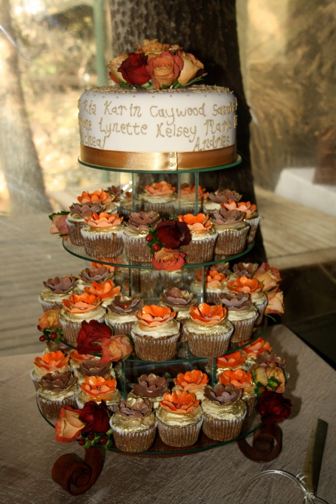 Small Fall Wedding Cakes  Choc n Cherry Wedding Cupcakes & Dessert Tables
