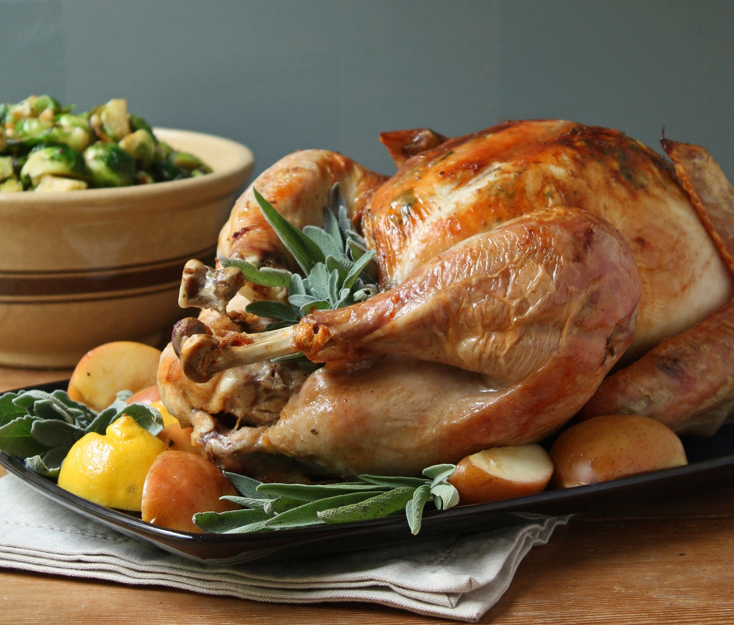 Small Thanksgiving Turkey  Easy Roasted Turkey w Sage Butter