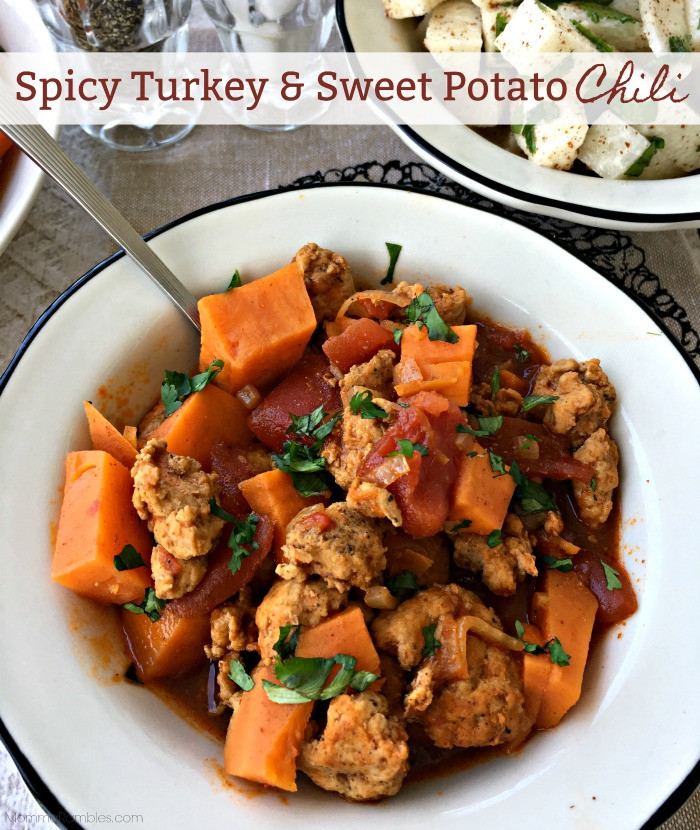 Spicy Thanksgiving Turkey Recipe  Spicy Turkey & Sweet Potato Chili Recipe Maryland Momma