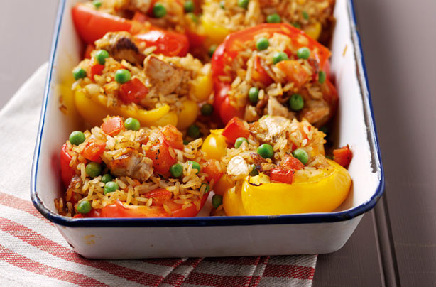 Spicy Thanksgiving Turkey Recipe  Peppers with spicy turkey stuffing recipe goodtoknow
