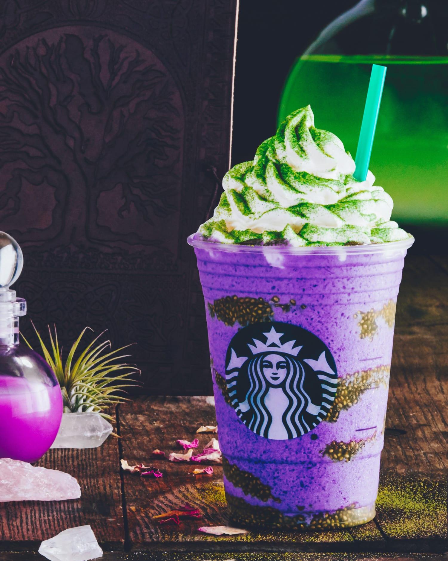 Starbucks Halloween Drinks  Starbucks New Witch s Brew Frappuccino Simplemost