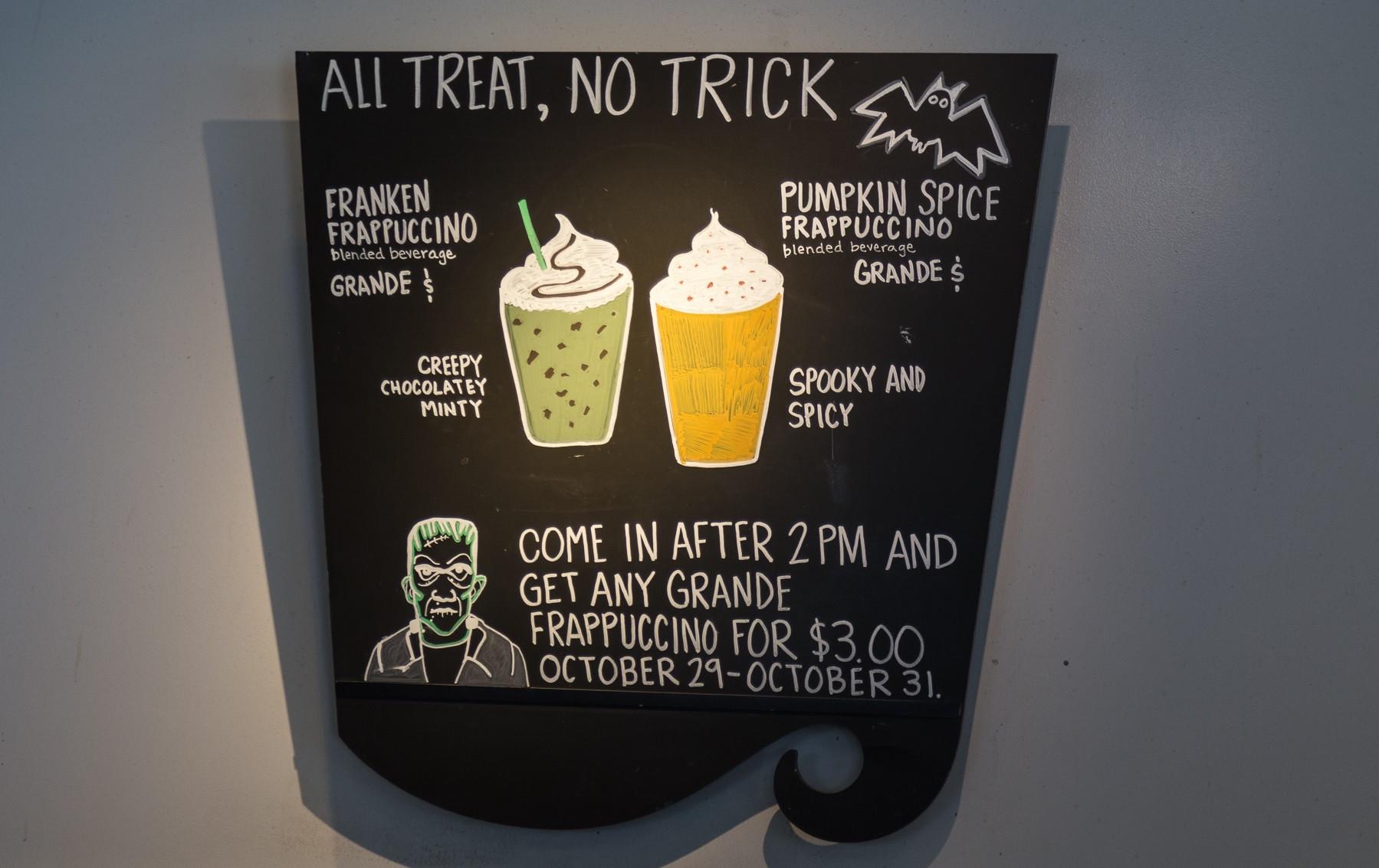 Starbucks Halloween Drinks  This Is The Franken Frappuccino Starbucks Halloween Drink