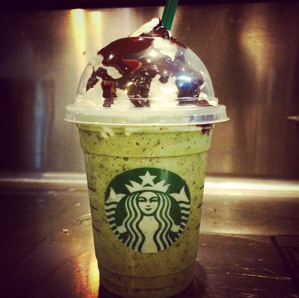 Starbucks Halloween Drinks  Franken Frappuccino Limited Edition Starbucks Halloween