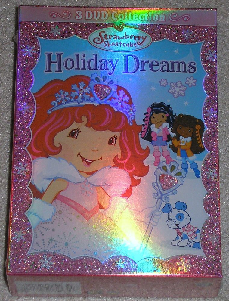 Strawberry Shortcake Berry Merry Christmas  Strawberry Shortcake Holiday Dreams 3 DVD Collection New