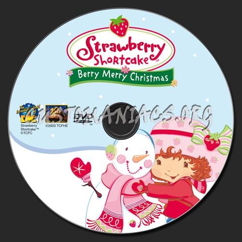 Strawberry Shortcake Berry Merry Christmas  Strawberry Shortcake Berry Merry Christmas dvd label DVD