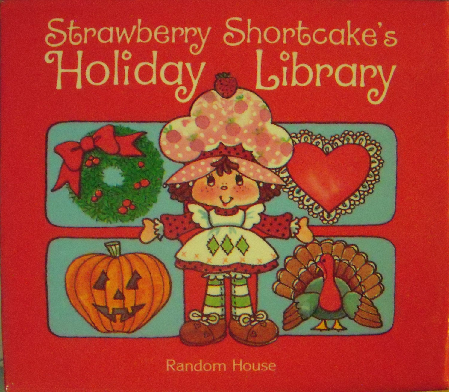 Strawberry Shortcake Christmas  1983 Strawberry Shortcake Holiday Library Four by