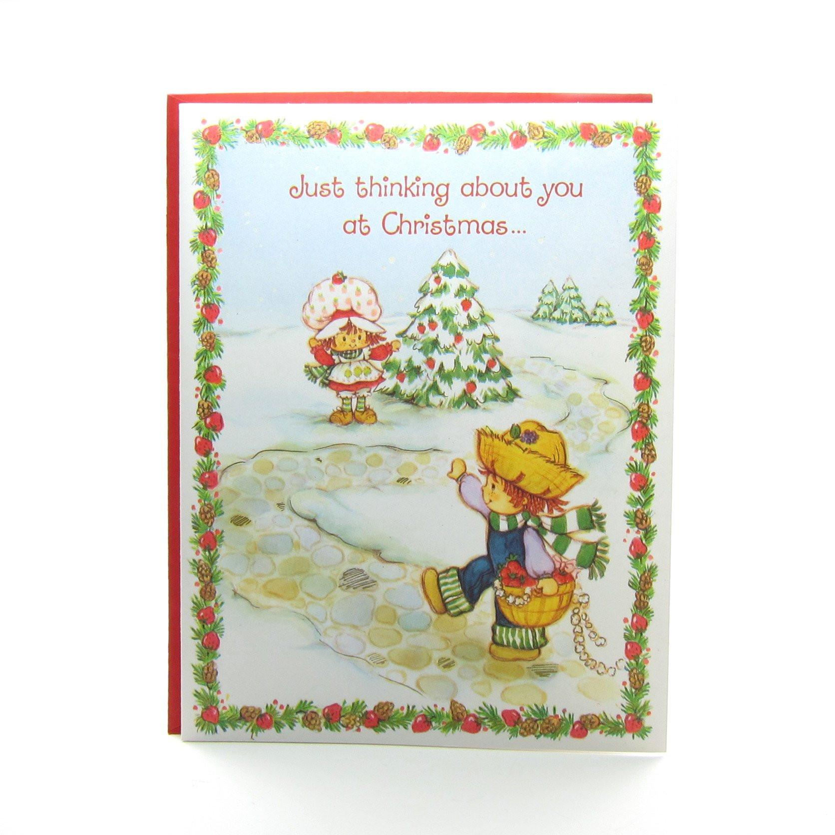 Strawberry Shortcake Christmas  Strawberry Shortcake Christmas Greeting Card with
