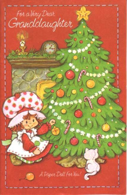 Strawberry Shortcake Christmas  Vintage Strawberry Shortcake Christmas Card