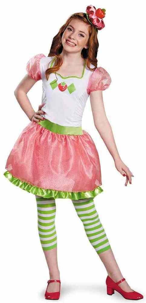 Strawberry Shortcake Halloween  Strawberry Shortcake Tween Retro Cartoon Fancy Dress