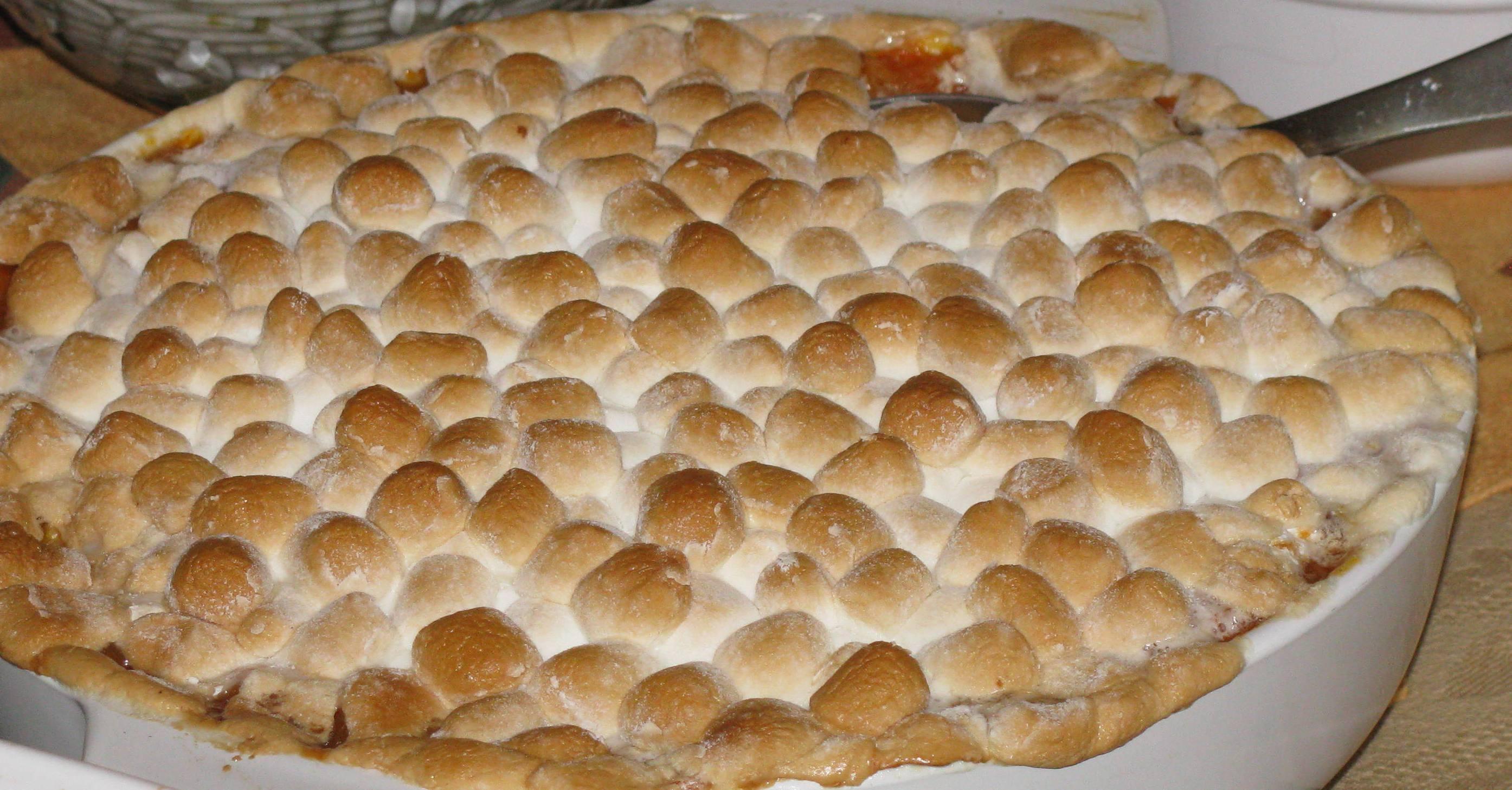 Sweet Potatoes Thanksgiving Marshmallows  Sweet Potatoes with Marshmallow