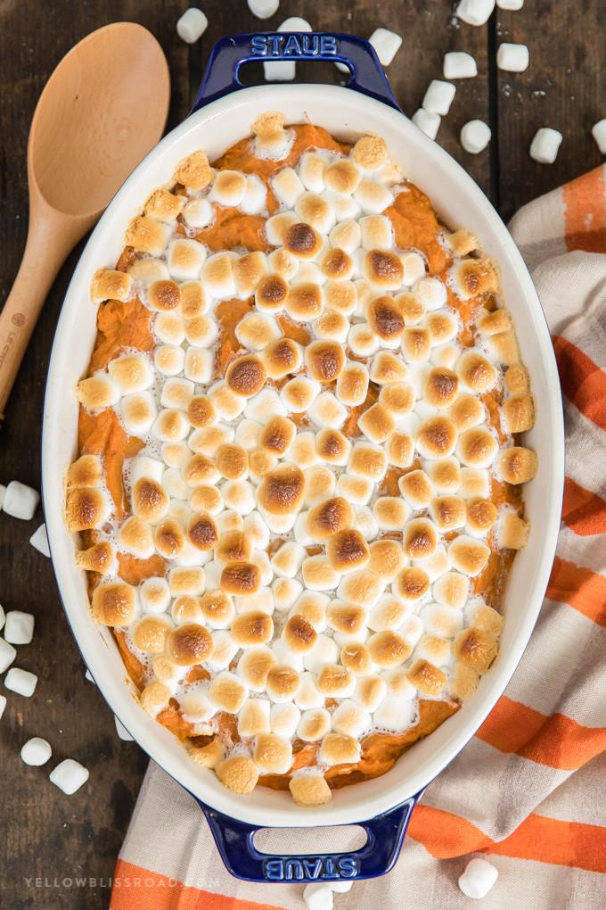 Sweet Potatoes Thanksgiving Marshmallows  The Best Sweet Potato Casserole Recipe