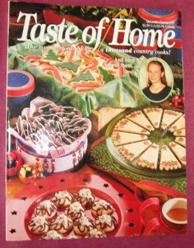 Taste Of Home Christmas Candy  Taste of Home December January 1997 Christmas Candy Tea