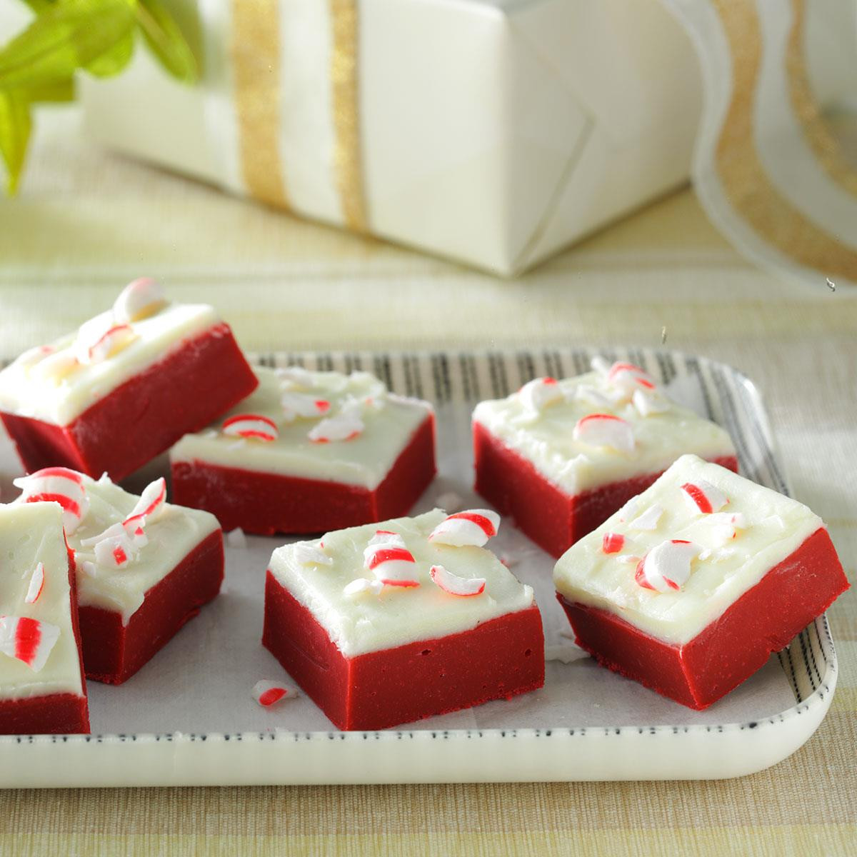 Taste Of Home Christmas Candy  Red Velvet Candy Cane Fudge Recipe