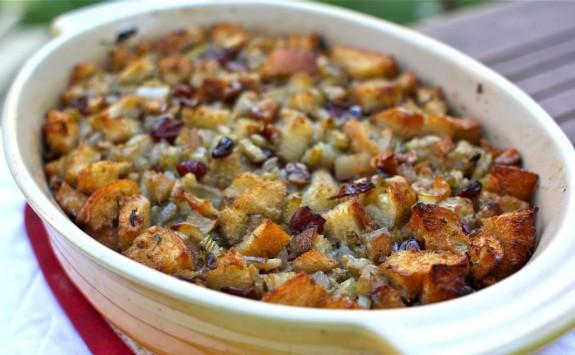 Thanksgiving Bread Stuffing  A Virtual Thanksgiving Recipe Seasonal Fruit & Herbs