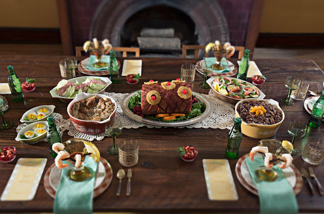 Thanksgiving Dinner Catering  Retro Thanksgiving Elopement