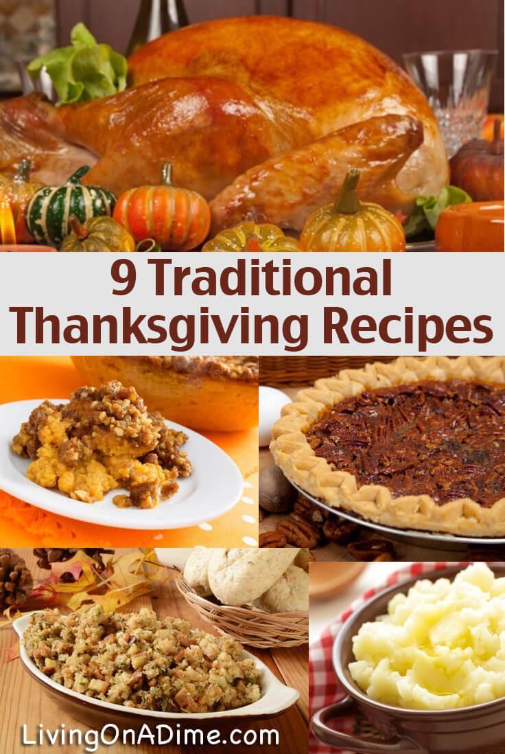 Thanksgiving Dinner Dishes  Traditional Thanksgiving Recipes Dinner For 10 For Less