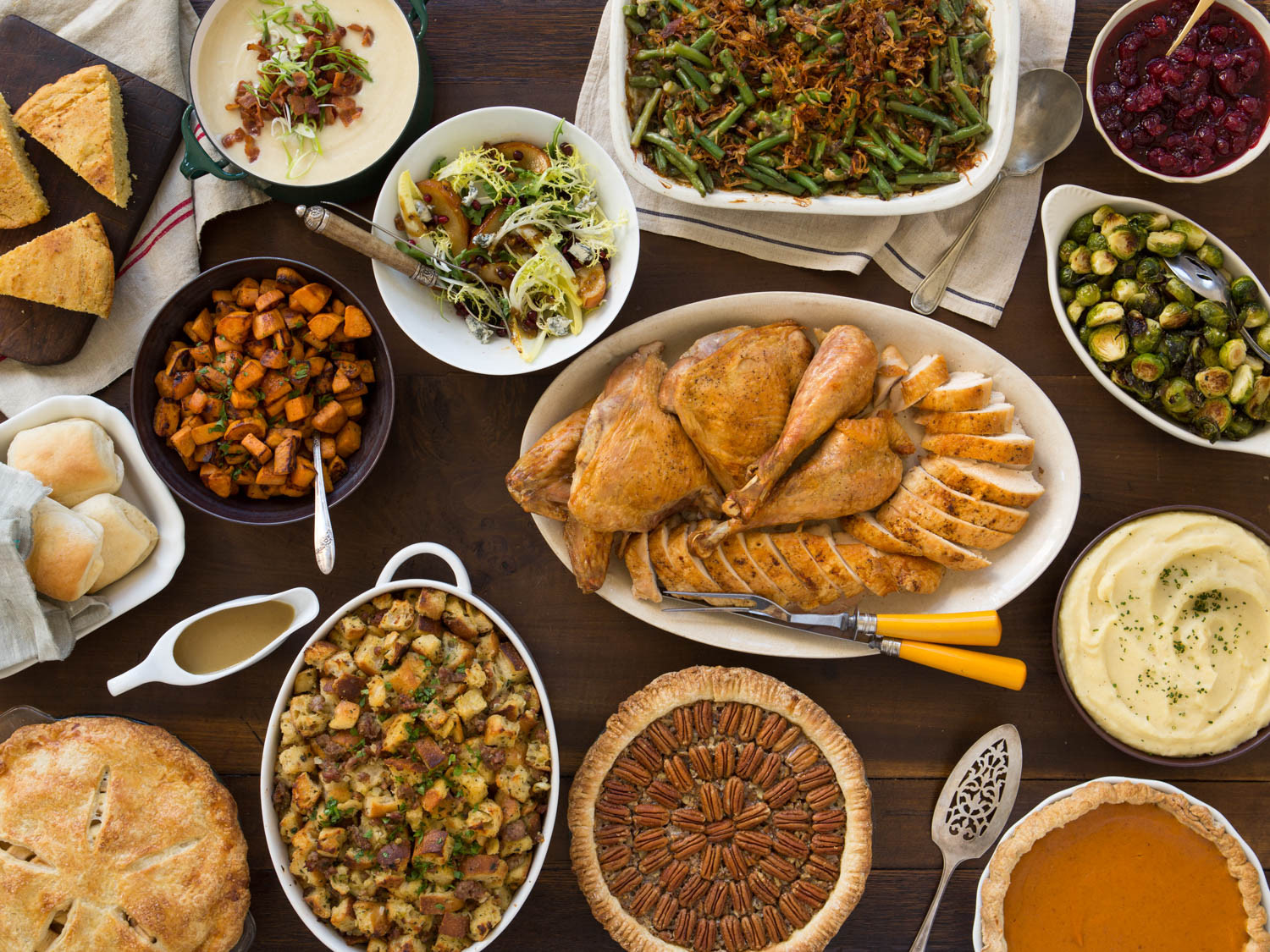 Thanksgiving Dinner Dishes  A Classic Thanksgiving Menu to Feed a Crowd