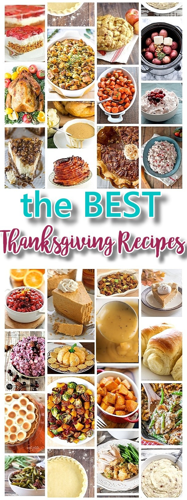 Thanksgiving Dinner Dishes  The BEST Thanksgiving Dinner Holiday Favorite Menu Recipes