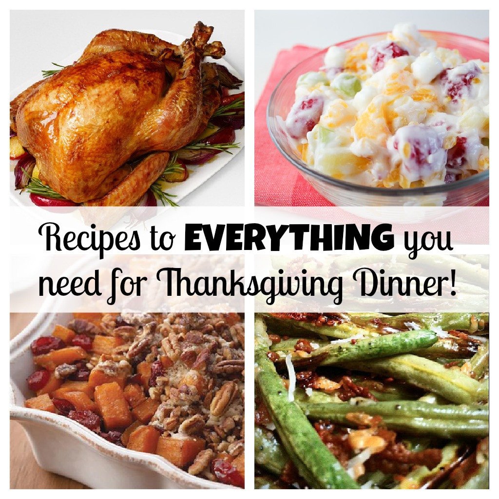 Thanksgiving Dinner Ideas  Your PLETE Thanksgiving dinner with recipes for