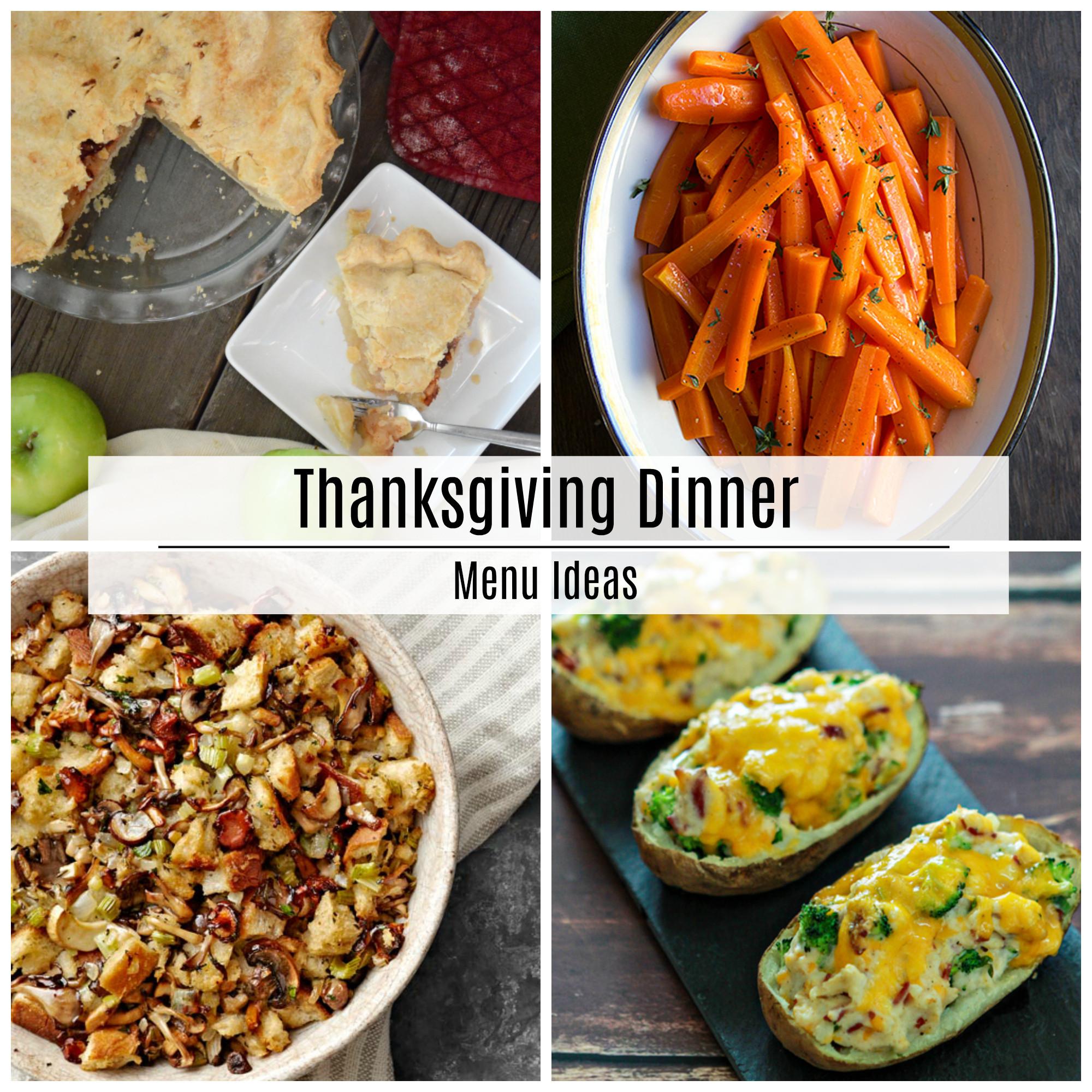 Thanksgiving Dinner Ideas  Thanksgiving Dinner Menu Recipe Ideas The Idea Room