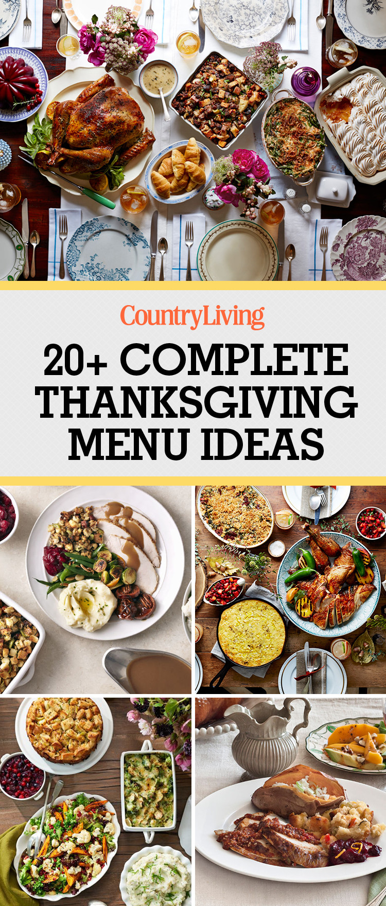 Thanksgiving Dinner Ideas  26 Thanksgiving Menu Ideas Thanksgiving Dinner Menu Recipes