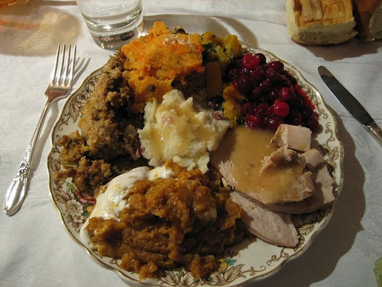 Thanksgiving Dinner Plate  Example of Healthy Thanksgiving Plate