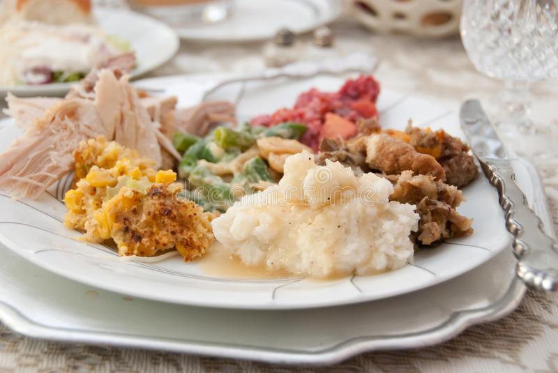 Thanksgiving Dinner Plate  Thanksgiving Dinner Plate Stock s Image