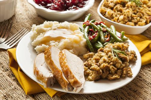 Thanksgiving Dinner Plate  Three Important Thanksgiving Health Tips