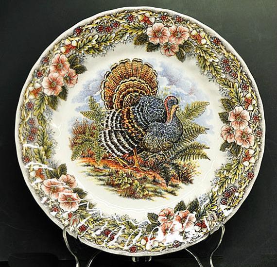 Thanksgiving Dinner Plate  Thanksgiving Dinner Plate Myott Churchill Tableware Turkey