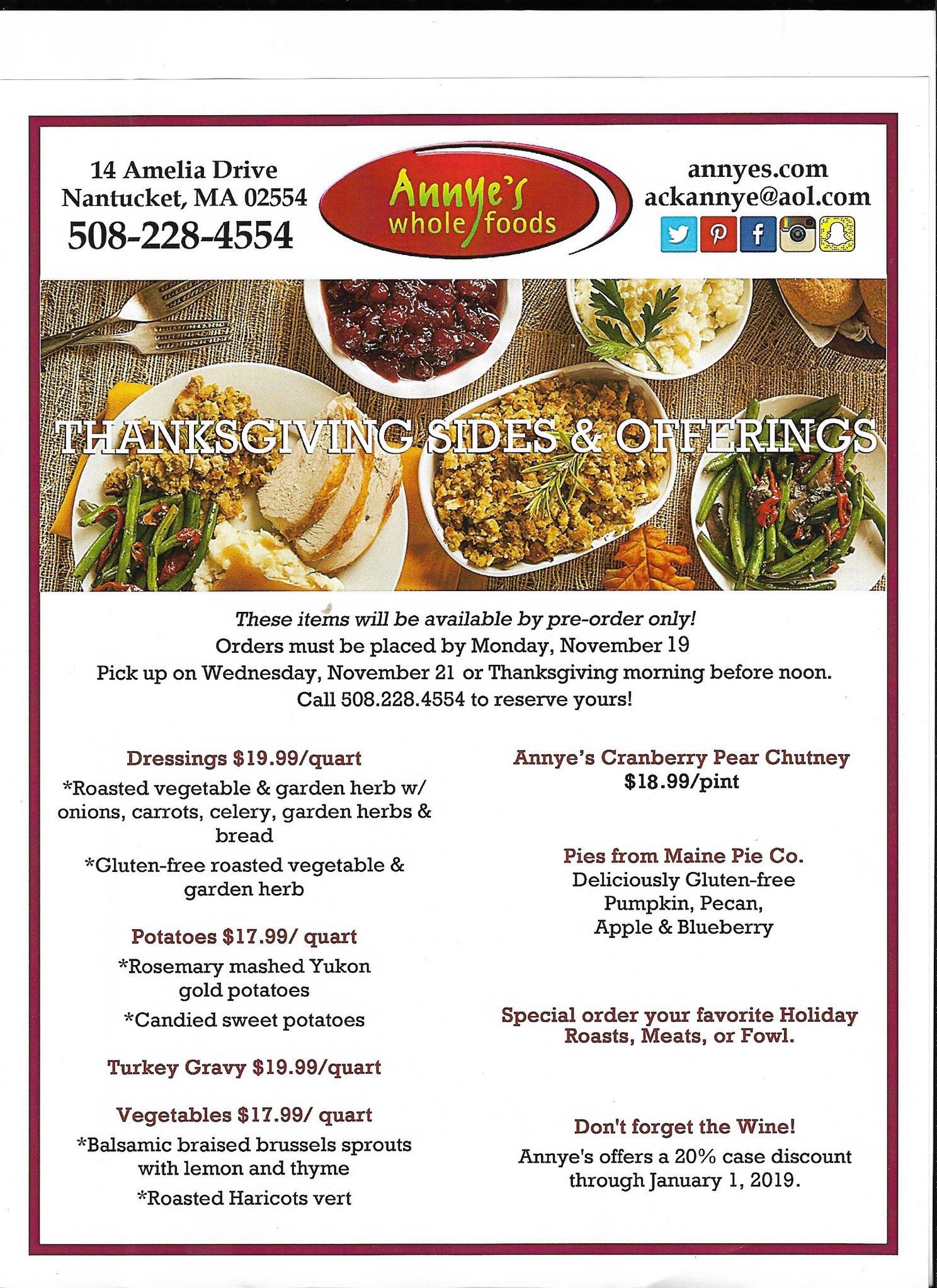 Thanksgiving Dinner Restaurants 2019  Thanksgiving and Nantucket Stroll 2018 Fisher s Holiday Tips