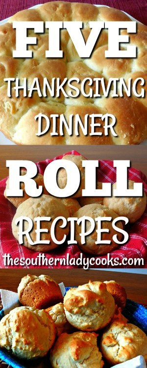 Thanksgiving Dinner Roll  FIVE THANKSGIVING DINNER ROLLS RECIPES The Southern Lady